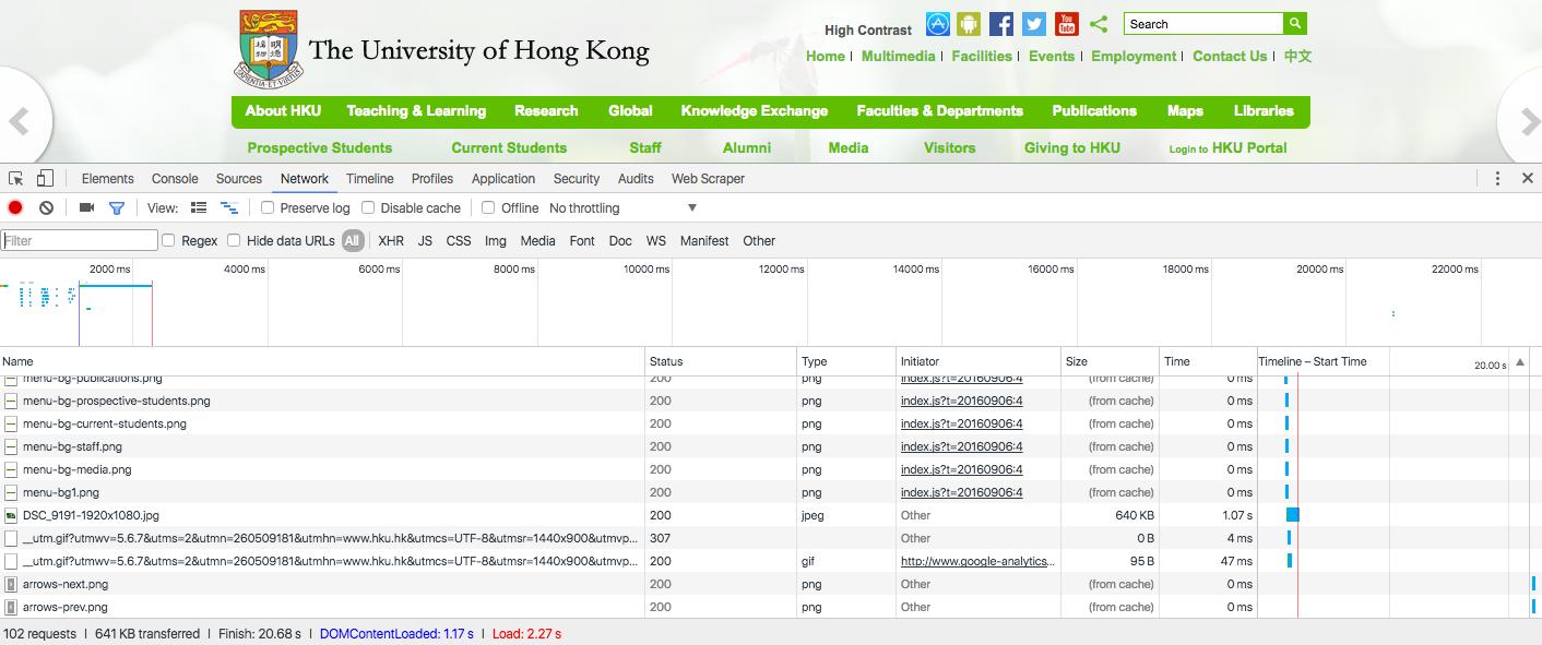 HKU Performances Tests