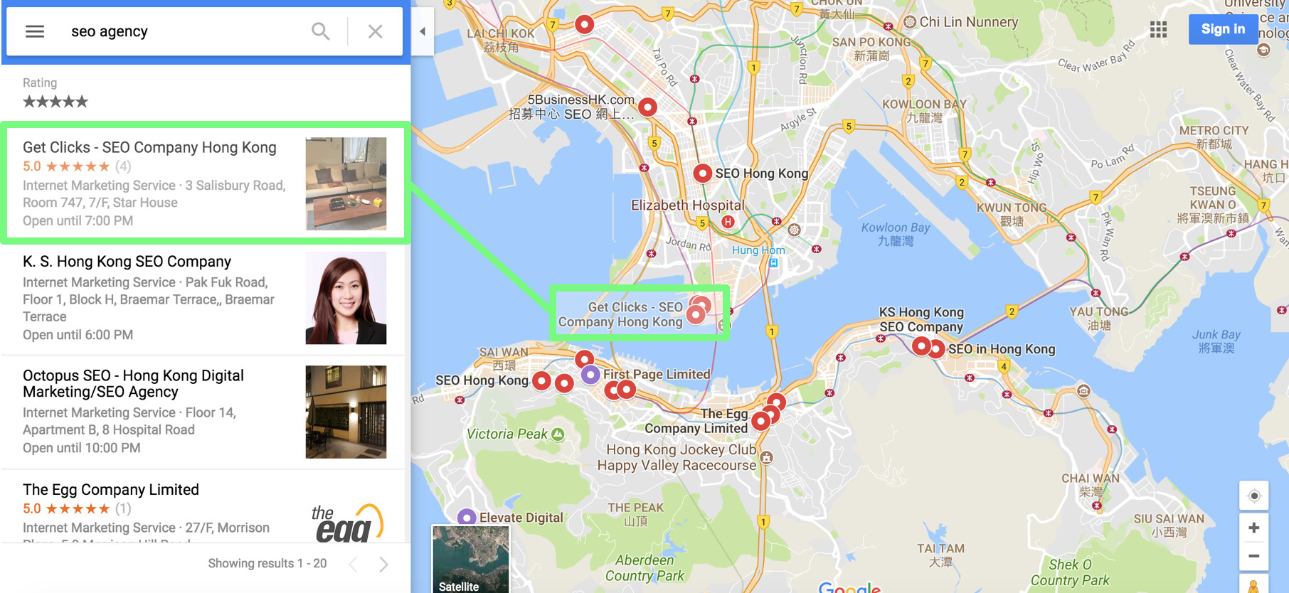 Google Maps SEO Services Hong Kong